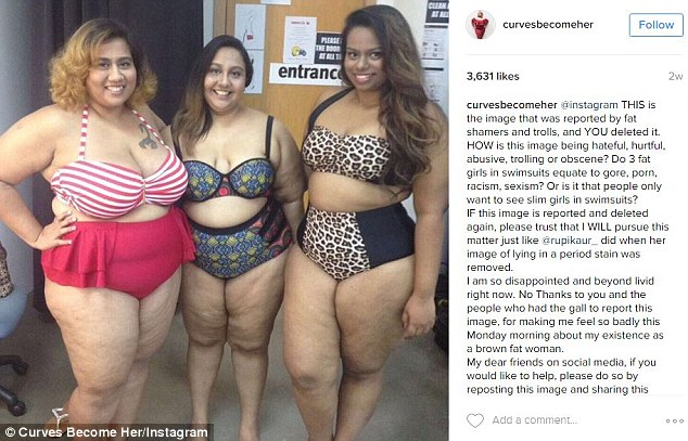 Plus-Size Model Instagram Post