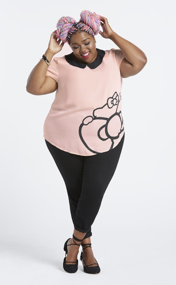 Plus-Size Model Hello Kitty Collection