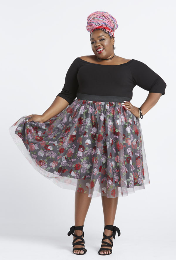 Plus-Size Model on Hello Kitty Collection