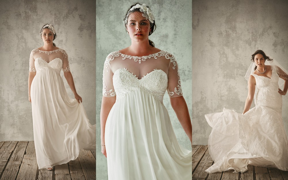 Plus-Size Happy Bride