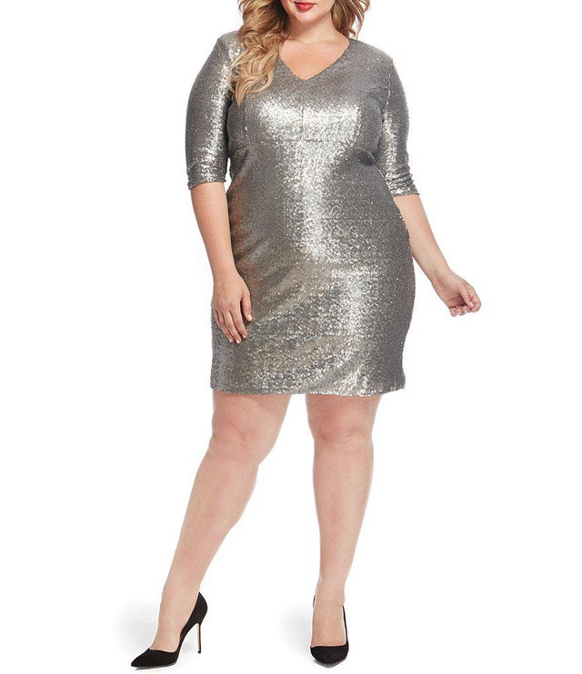 Rebel Wilson X Angels Plus Plus Sequin Bodycon Dress