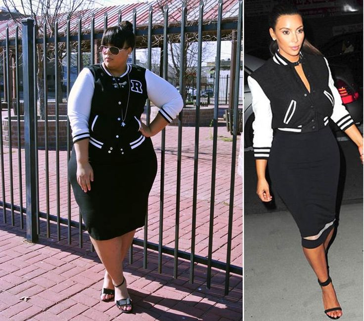 Plus Size Varsity Jacket