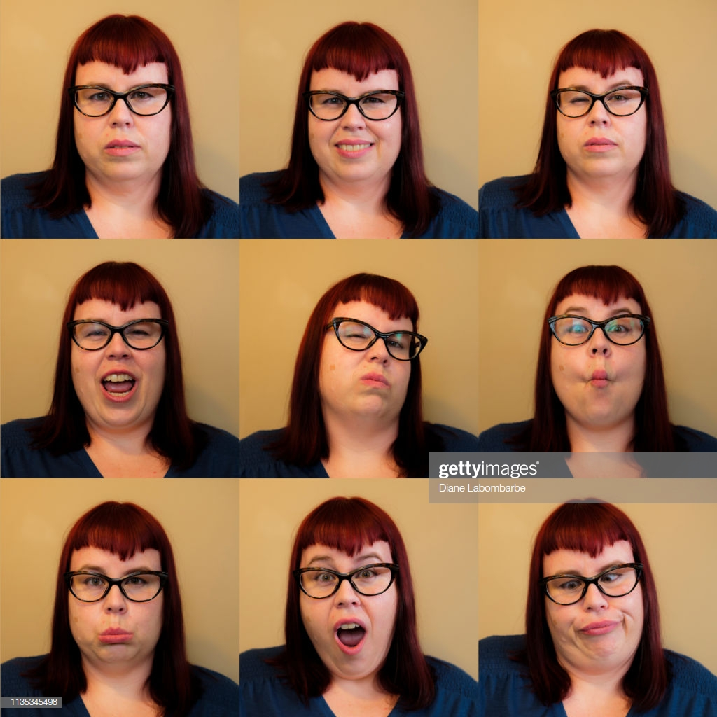 Modeling Advice: How to Convey Facial Expressions - Practice your facial expressions on camera